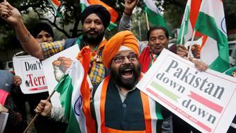 Wütende Proteste gegen Pakistan: Indien bezichtigt das Nachbarland der Terrorismus-Förderung.