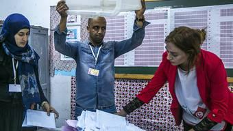 Wahltag in Tunis - bloss kamen nicht allzu viele.