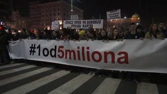 Unter dem Motto «Einer von fünf Millionen» forderten sie freie Medien und faire Rahmenbedingungen für Wahlen.