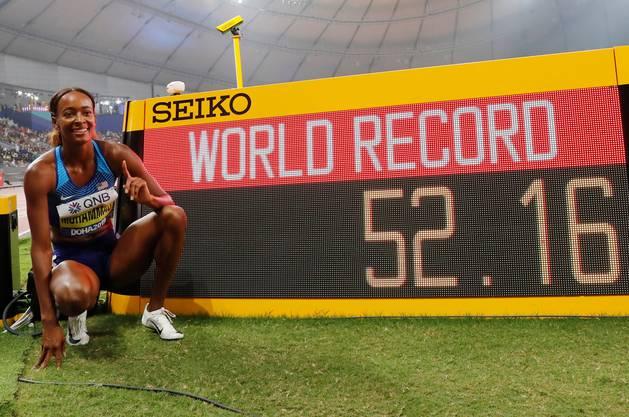 Weltrekordlerin und Weltmeisterin über 400 Meter Hürden: Dalilah Muhammad aus den USA startet bei den Inspiration Games.