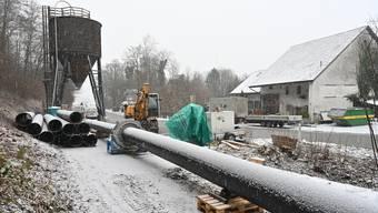 Erste Vorbereitungen: Ab dem 18. Januar wird an der Saalstrasse in Erlinsbach gebaut.