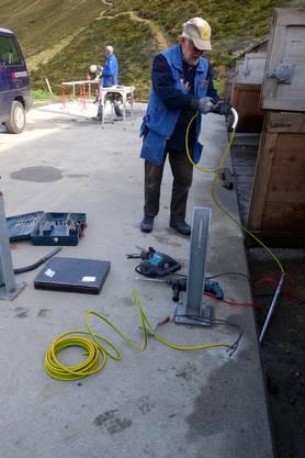 Der Elektriker am Werk