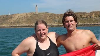 Andrea Gisiger und Romano Mombelli schwimmen als Team von England nach Frankreich