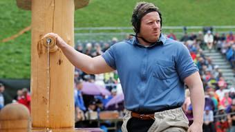 Matthias Glarner am letzten Sonntag beim Berner Oberländischen Schwingfest in Grindelwald.