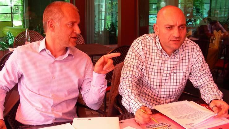 Die Organisatoren Andreas Hauenstein (links) und Michel Walde. DM