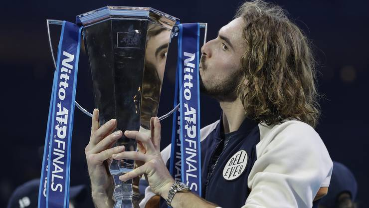 Grösster Erfolg seiner noch jungen Karriere: Stefanos Tsitsipas holte gleich bei seiner ersten Teilnahme den Titel an den ATP Finals