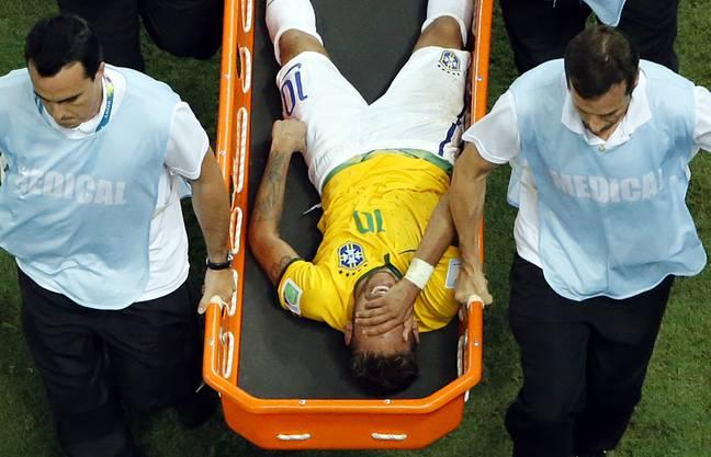 2014: WM-Aus für Brasiliens Superstar Neymar.