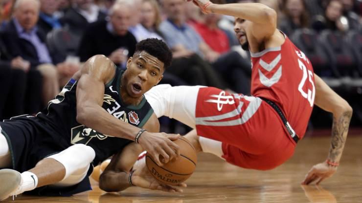 Die Milwaukee Bucks mit Giannis Antetokounmpo setzten sich bei den Houston Rockets durch