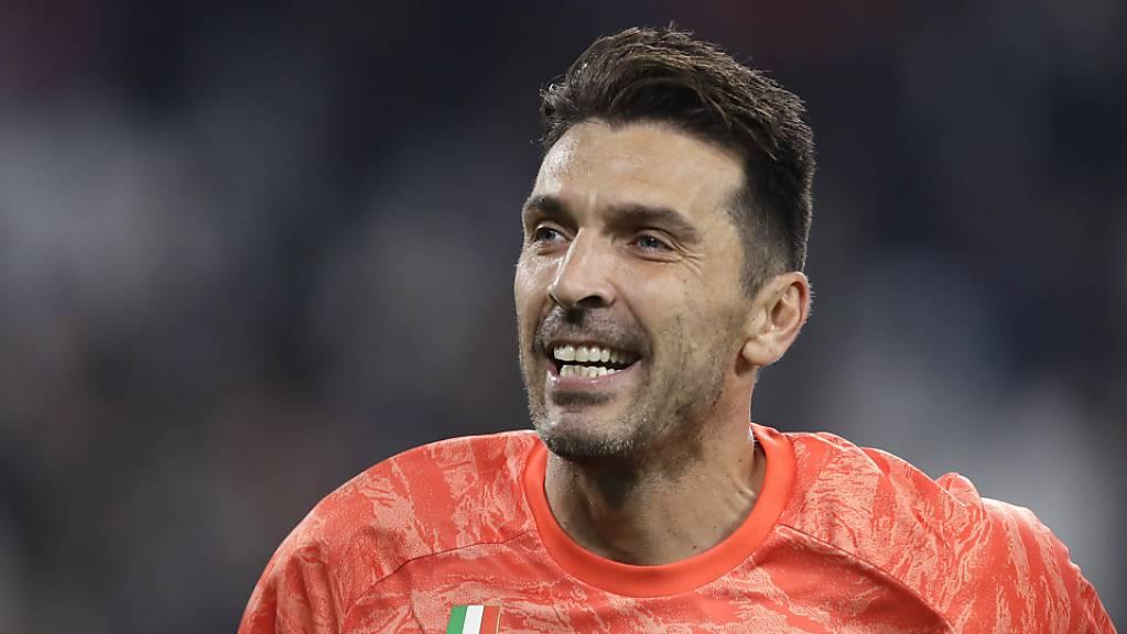 Gianluigi Buffon feierte bei seinem Rekordmatch einen Sieg