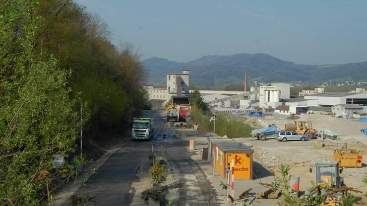 NK 112: Die Werkpiste (links) gibt das künftige Trassee vor. (Walter Schwager)