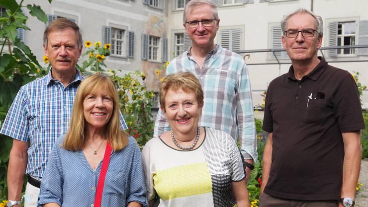 Tino Schütterle, Tadeusz Szczesiak und Adrian Sieber sowie Evi Hinterkircher und Christine Hirt