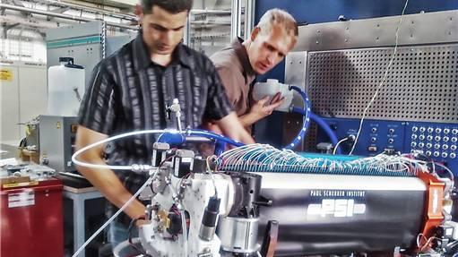 Die effiziente Brennstoffzelle, die am Paul-Scherrer-Institut (PSI) in Villigen entwickelt wurde.
