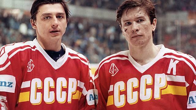 Olympiasieger 1988 und 1992: Andrej Chomutow (l.) und Slawa Bykow