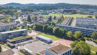 Die Rösslimatt ist die Siedlung rechts im Bild.