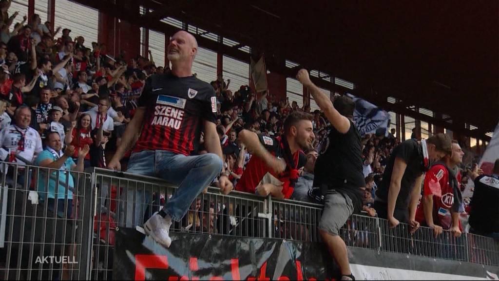 FC Aarau erwartet Fanansturm nach Schlusspfiff
