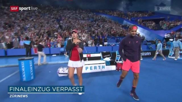 Bencic und Federer ausgeschieden