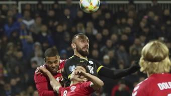 Kosovos Vedat Muriqi steigt höher als seine dänischen Gegenspieler