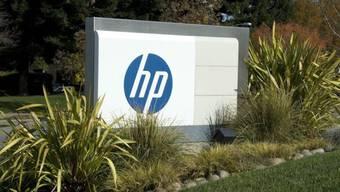 Schild vor dem Hewlett-Packard  Hauptsitz in Palo Alto (Archiv)