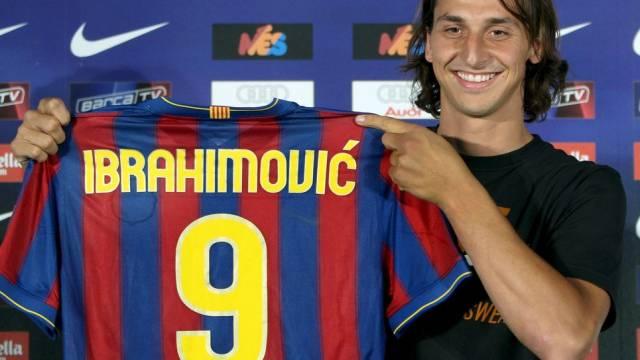 Für 5 Jahre zu Barça: Zlatan Ibrahimovic