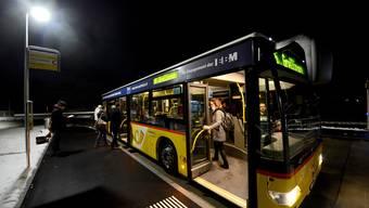 Die neue Bushaltestelle in Seewen.