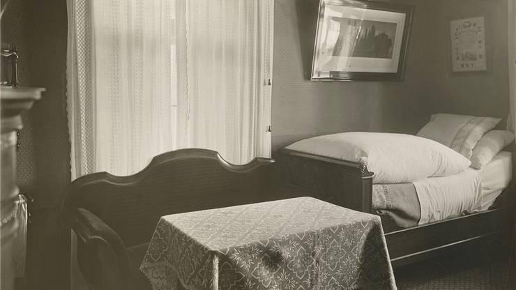 Lenins Schlaf- und Arbeitszimmer in Zürich.