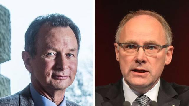 Die beiden Ständeratskandidaten Philipp Müller (FDP) und Hansjörg Knecht (SVP).