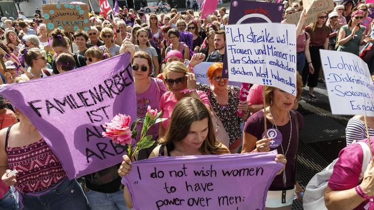 Ein Bild vom Frauenstreik 2019 Solothurn.