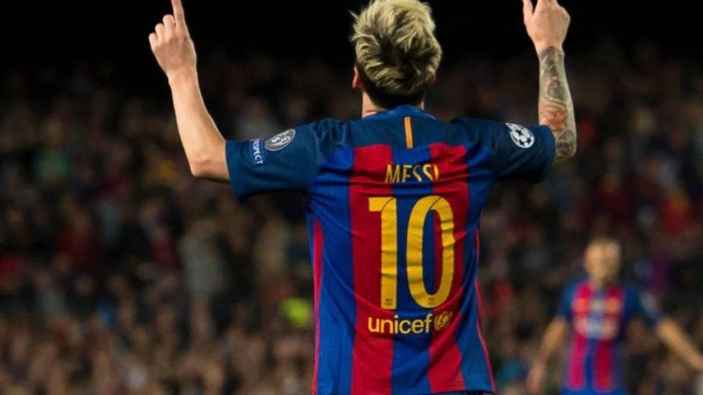 Barcelonas Stürmerstar Lionel Messi will laut Medienberichten im kommenden Jahr seine Partnerin heiraten. (Bild Twitter)