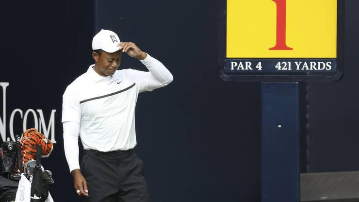 Am Ende hat es doch nicht gereicht: Tiger Woods scheidet trotz Steigerung aus.