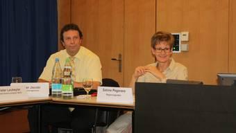 Kantonsingenieur Oliver Jacobi und Regierungsrätin Sabine Pegoraro.