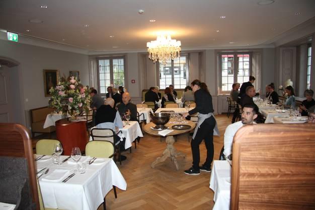 Das elegant eingerichtete Restaurant beim Probe-Essen.
