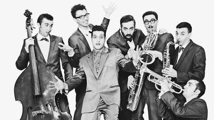 Die siebenköpfige Truppe «Sugar Daddy and the Cereal Killers» sind in Münchenstein zu Gast.