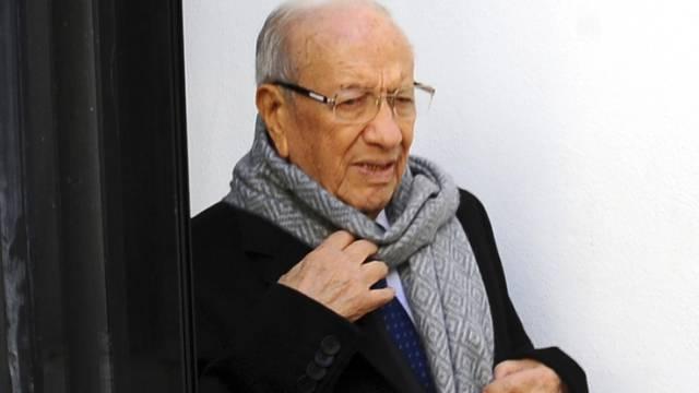 Wahlsieger Béji Caïd Essebsi im Hauptquartier seiner Partei