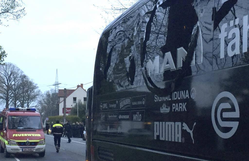 Explosionen vor BVB-Teambus (© KEYSTONE/DPA)