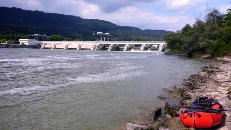 Einwasserung beim Kraftwerk Säckingen