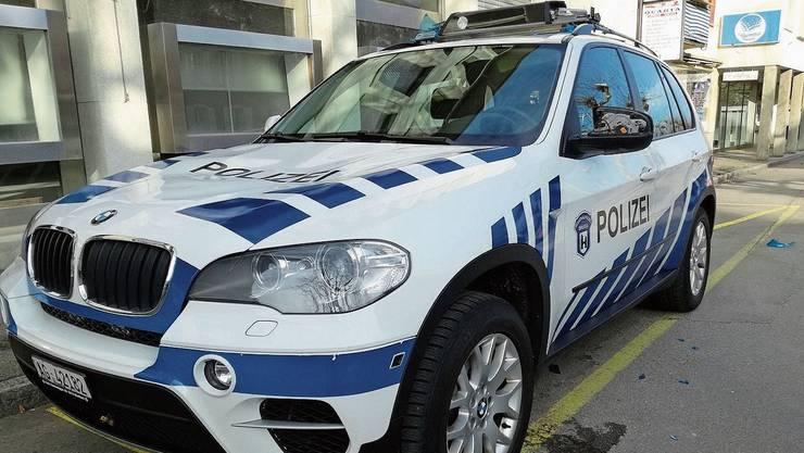 Der Beschuldigte hat das Einsatzfahrzeug der Polizei demoliert.