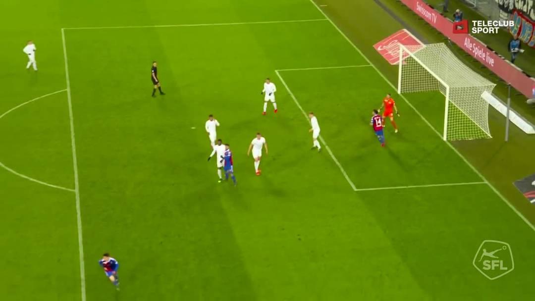 Super League, 2018/19, 32. Runde, FC Basel – FC Zürich, 92. Minute: Tor von Albian Ajeti.