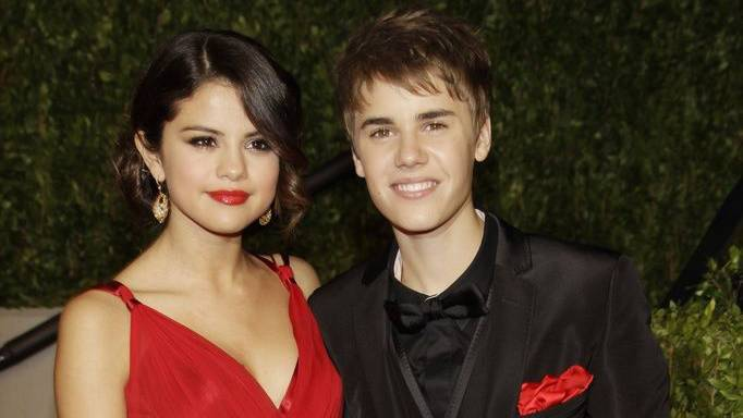 Justin Bieber Selena Gomez an Vanity Fair-Party