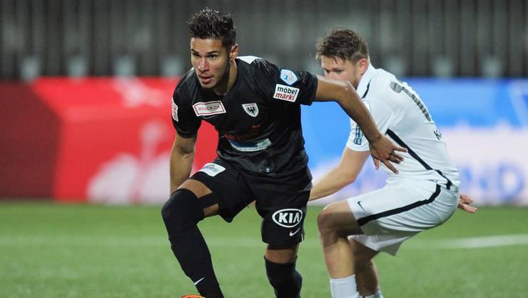 Miguel Peralta war in Wil für den FC Aarau ein sicherer Wert.