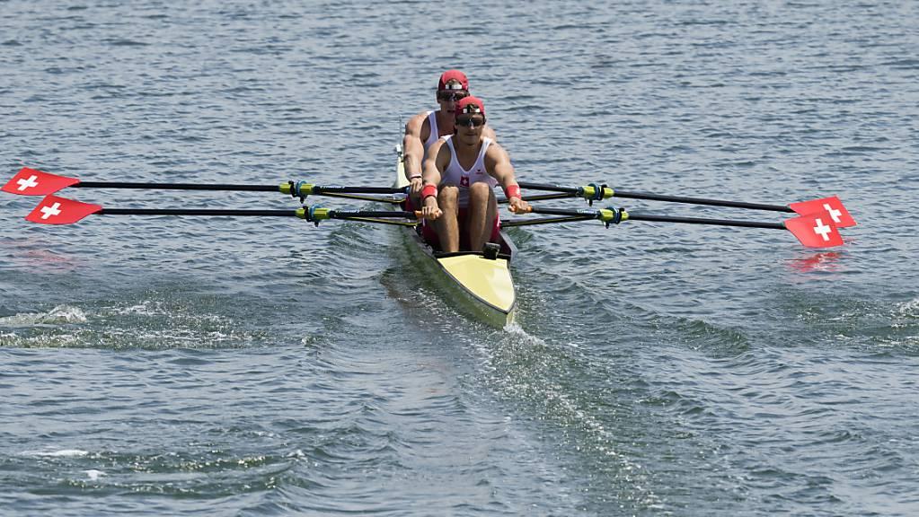 Roman Röösli und Barnabé Delarze dürfen im A-Final um eine Olympia-Medaille rudern.