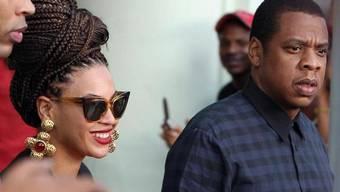Verursacht Wirbel mit Kuba-Song: Rapper Jay-Z (hier mit seiner Frau Beyoncé)