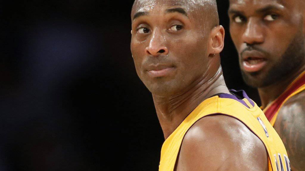 Legendäre Widersacher: Kobe Bryant (links) und LeBron James