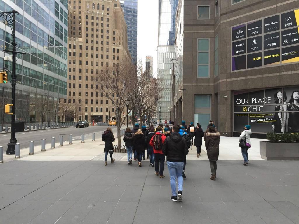 Der Cantichor unterwegs in New York.