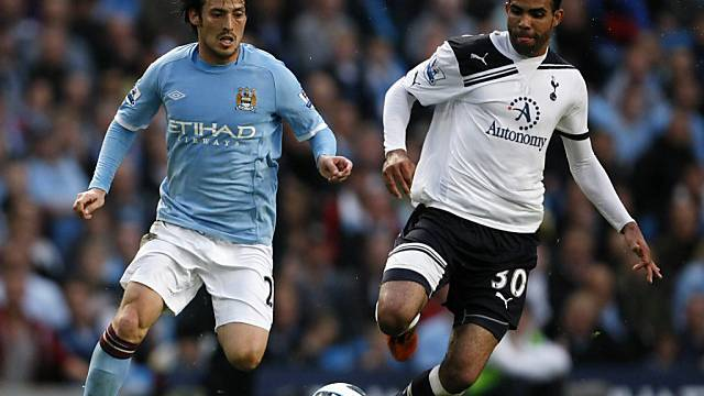 David Silva (links) mit Manchester City auf Kurs