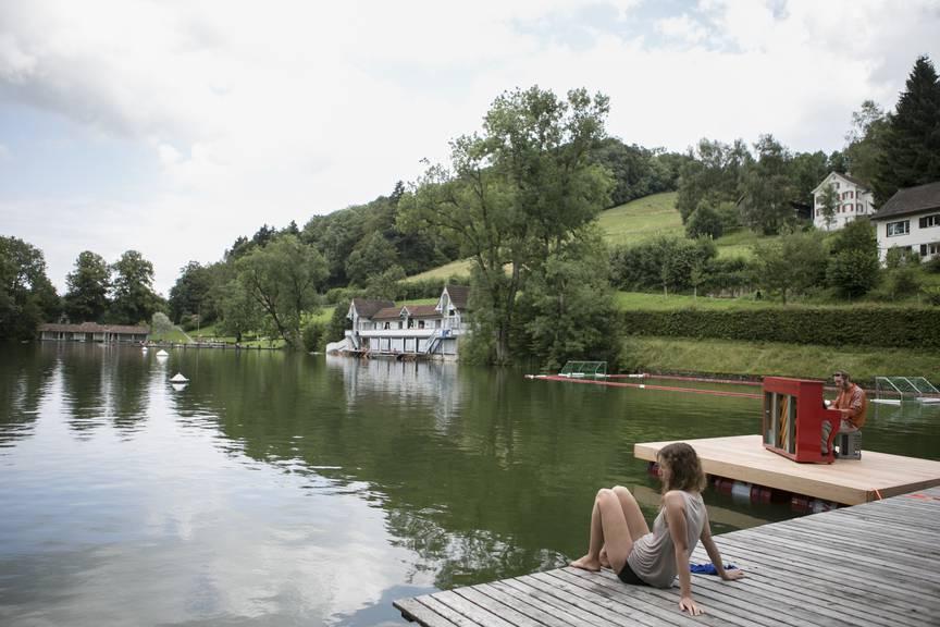 Die Badi Dreilinden ist nicht nur bei Stadt-St.Gallern sehr beliebt.