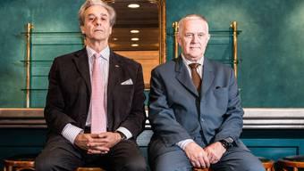 Zwei Japan-Experten: Herbert Haag (l.), Präsident der Schweizerisch-Japanischen Gesellschaft, und Japanologie-Professor Eduard Klopfenstein.