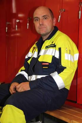Urs Morgenthaler ist für die Fusion. Nach 20 Jahren in der Feuerwehr will er allerings nicht mehr in die Regiowehr übertreten.