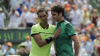 Rafael Nadal und Roger Federer. (Archiv)