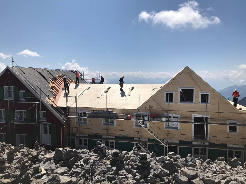 Nun haben die Bauarbeiter zwei Wochen Pause. (Bild: zVg)