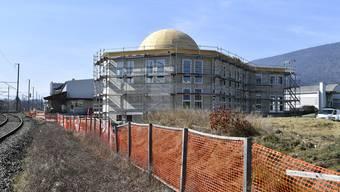 Die Moschee, als sie im im Frühling 2017 im Rohbau fertiggestellt war. (Archiv)